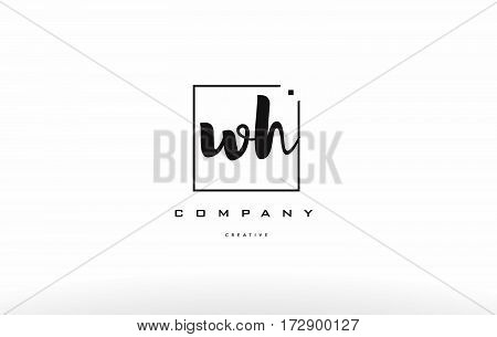 Wh W H Hand Writing Letter Company Logo Icon Design