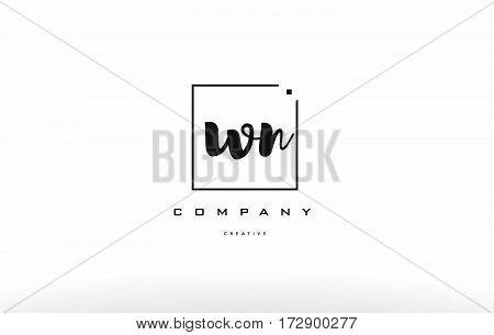 Wn W N Hand Writing Letter Company Logo Icon Design