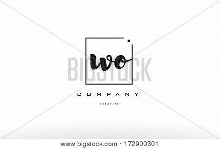 Wo W O Hand Writing Letter Company Logo Icon Design