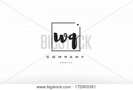 Wq W Q Hand Writing Letter Company Logo Icon Design