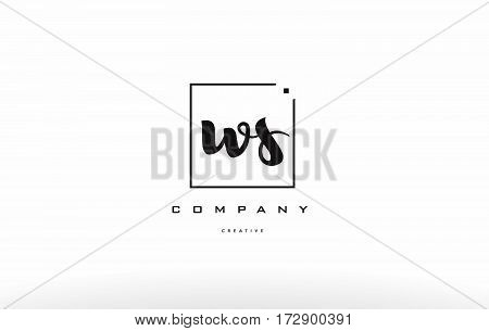 Ws W S Hand Writing Letter Company Logo Icon Design