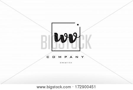 Wv W V Hand Writing Letter Company Logo Icon Design