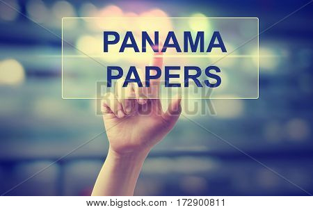 Panama Papers Concept With Hand