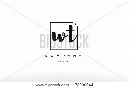 Wt W T Hand Writing Letter Company Logo Icon Design