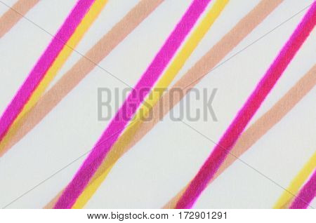 Colored felt pen strips on paper. Creative design element.