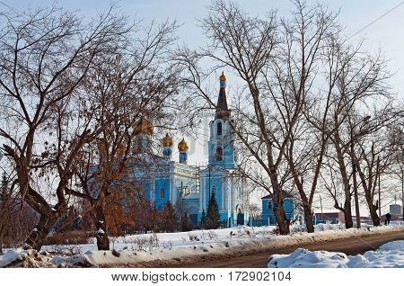 Church of the Intercession built in 1883-1885. City Kamensk-Uralsky, Sverdlovsk region, Russia.