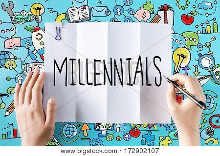 Millennials Text With Hands