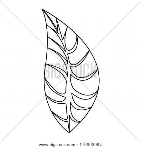 silhouette leaves icon stock, vector illustration design