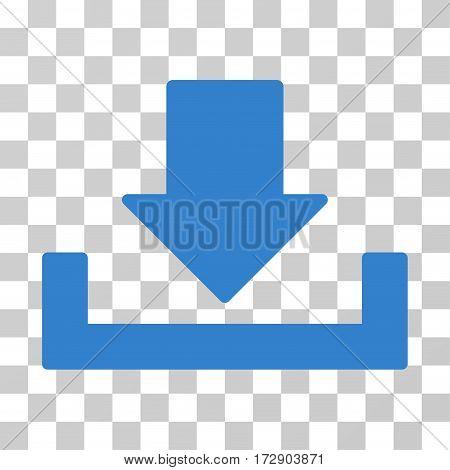Download vector pictogram. Illustration style is flat iconic cobalt symbol on a transparent background.
