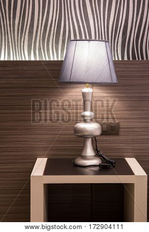 table lamp interior of modern bedroom at home