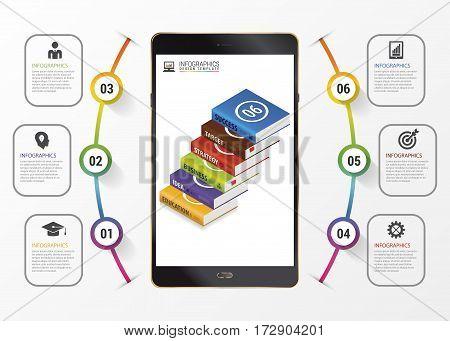 Infographic. Education concept. Modern design template. Vector illustration