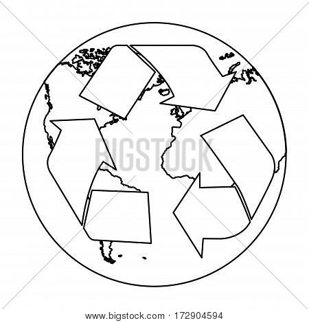 figure planet caring for the environment icon, vector illustration design