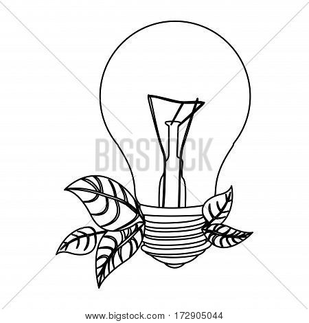normal bulbs with leaves icon, vector illustration design image