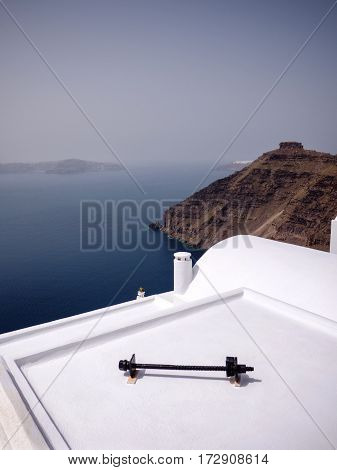 Houses With Decoration In Santorini