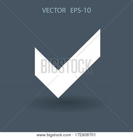 Flat icon of check box. vector illustration