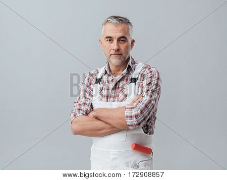 Painter Posing With Arms Crossed