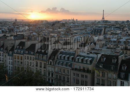 Cityscape Of Paris