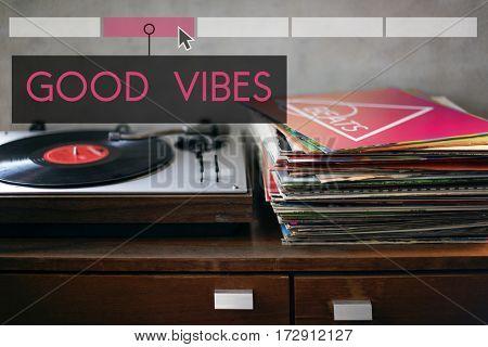Good Vibes Together Enjoy Concept
