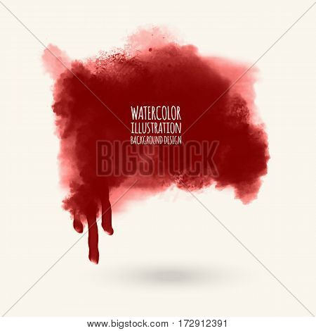 vector splats splashes and blobs of red ink paint in different shapes drips isolated on white