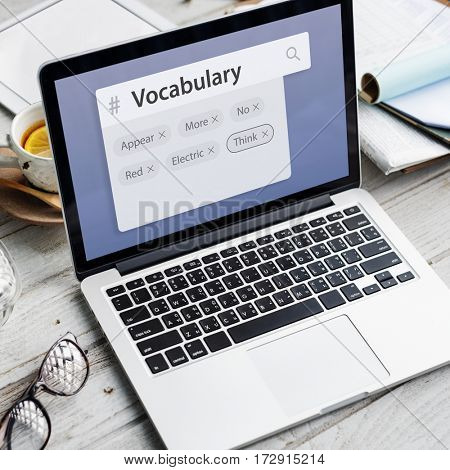 Vocabulary Words Learning Studying Explanation