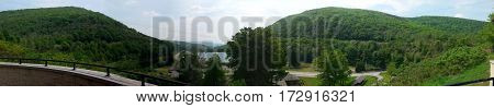 Horseshoe Curve, Altoona, Pennsylvania panoramic view scenic