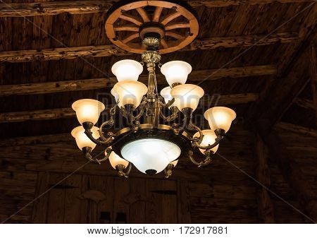Vintage Chandelier On The Ceiling