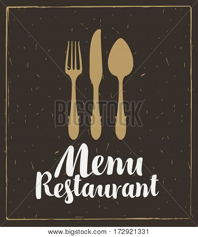 vector restaurant and cafe menu template with cutlery