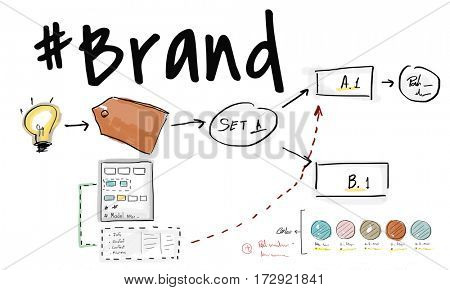 Business branding label chart graphic
