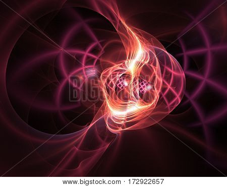 Abstract Fractal Background - colorful computer design backdrop suitable in project of science maths physics spiritual wall art futuristic technology artwork wallpapers universe geometry and more