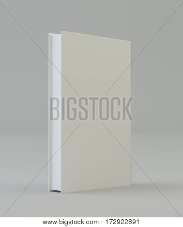 Blank book cover mockcup template standing. 3d rendering