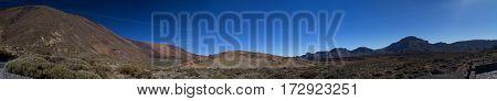 Mountain Landscape Panorama Tenerife Island Spain Teide Volcano