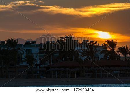 Sunset In Hurghada, Egypt