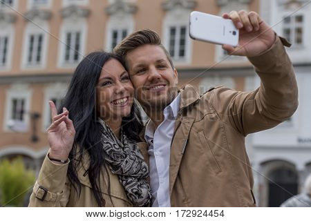 selfie a couple