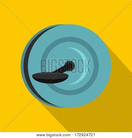 Monowheel icon. Flat illustration of monowheel vector icon for web isolated on yellow background