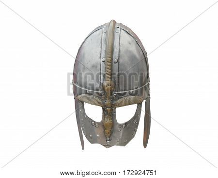 An Old Classic Metal Fighting Armour Face Helmet.