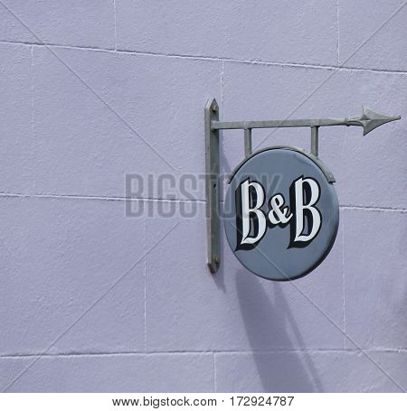 A Wall Sign for a Bed and Breakfast Establishment.