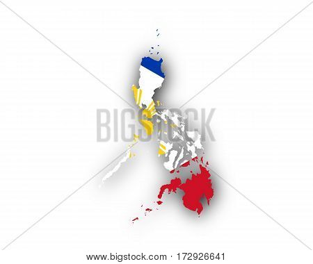 Map And Flag Of The Philippines