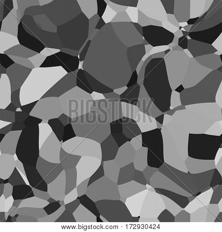 Abstract vector space monochrome background. Chaotically fluid connected points and polygons debris flying in space. Futuristic technology style. Elegant background for business presentations..