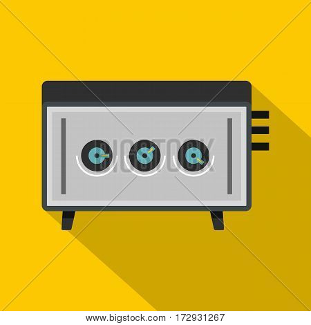 CD player icon. Flat illustration of CD player vector icon for web isolated on yellow background