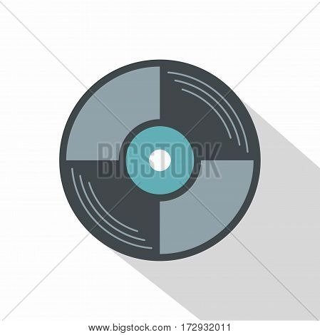 Vinyl disk icon. Flat illustration of vinyl disk vector icon for web isolated on white background