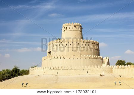 Historic Al Jahlili fort in the city of Al Ain. Emirate of Abu Dhabi United Arab Emirates Middle East