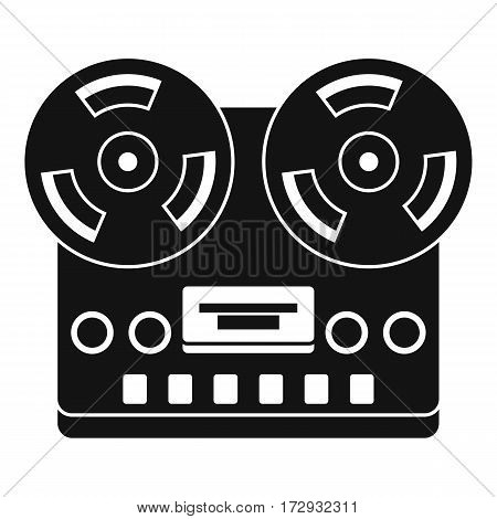 Retro tape recorder icon. Simple illustration of retro tape recorder vector icon for web