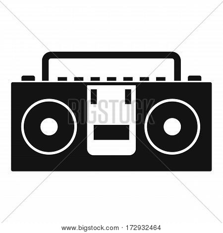 Vintage tape recorder for audio cassettes icon. Simple illustration of vintage tape recorder vector icon for web