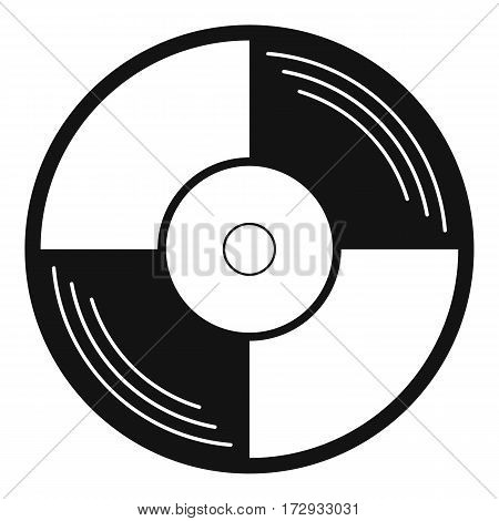 Vinyl record icon. Simple illustration of vinyl record vector icon for web