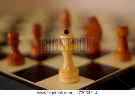 Nice chess and chess board close up