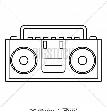 Music boombox icon. Outline illustration of music boombox vector icon for web