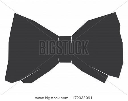 Isolated bowtie on a white background, Vector illustration