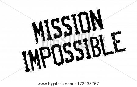 Mission Impossible rubber stamp. Grunge design with dust scratches. Effects can be easily removed for a clean, crisp look. Color is easily changed.