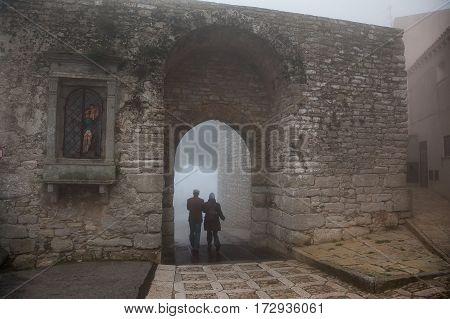 Erice, Trapani, Sicily, Italy - City In The Fog, Porta Trapani