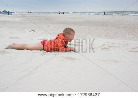 Boy Laying